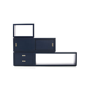 Ascend Dark Navy Stacking Storage Units