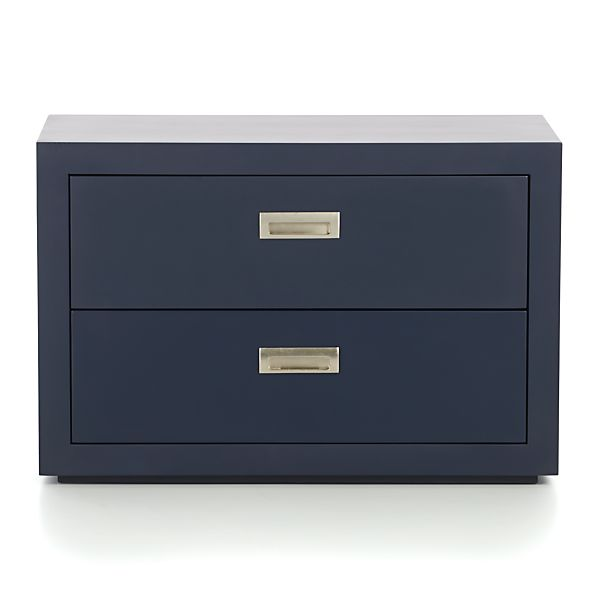 "Ascend Dark Navy 27"" Two-Drawer Unit"
