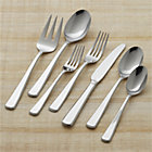 Ascot 22-Piece Flatware Set: four 5-piece place settings, serving fork and serving spoon.