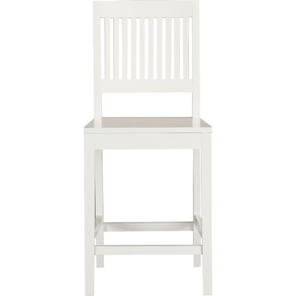 "Aspen 24"" White Counter Stool"
