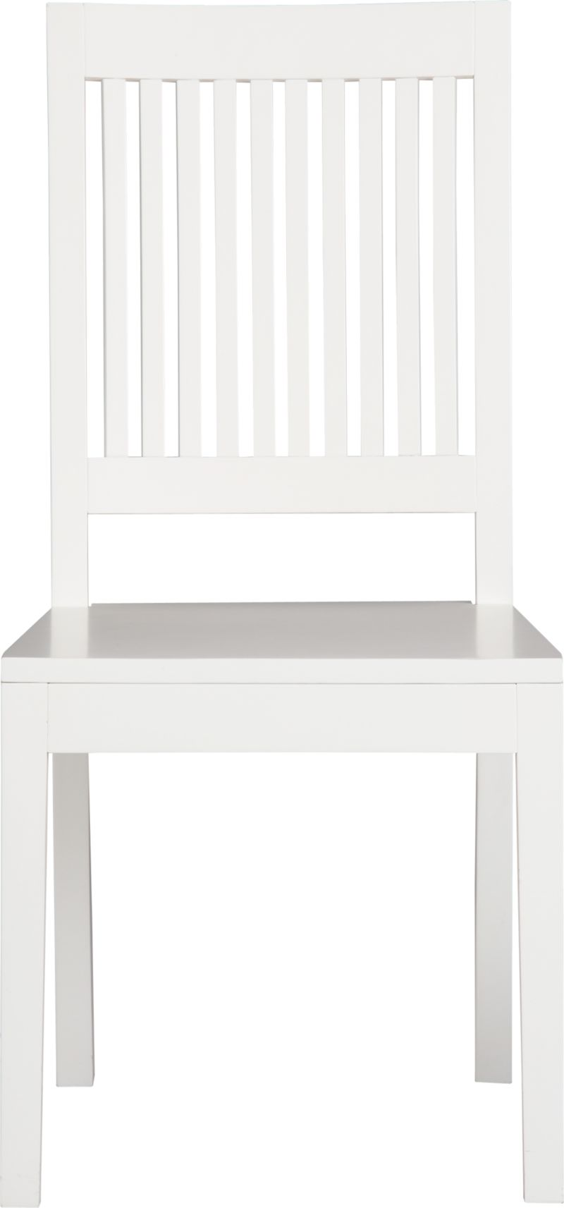 An update of the classic slat-back brings a contemporary edge to traditional Arts and Crafts styling. Handcrafted of sustainable solid rubberwood with a white lacquer finish.<br /><br /><NEWTAG/><ul><li>Solid sustainable rubberwood</li><li>White lacquer finish</li><li>Made in Vietnam</li></ul>