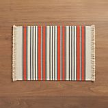 Aspen Stripe Orange Placemat