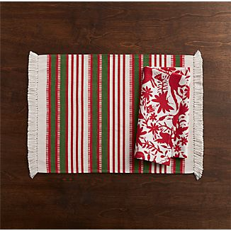 Aspen Stripe Placemat and Hidalgo Napkin