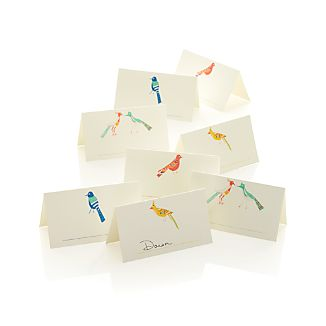 Set of 8 Bird Placecards
