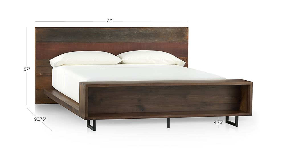Atwood Queen Bed with Bookcase Dimensions