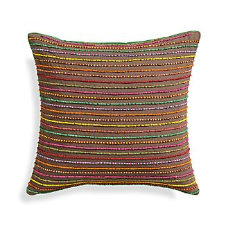"Audrey 12"" Pillow with Feather-Down Insert"