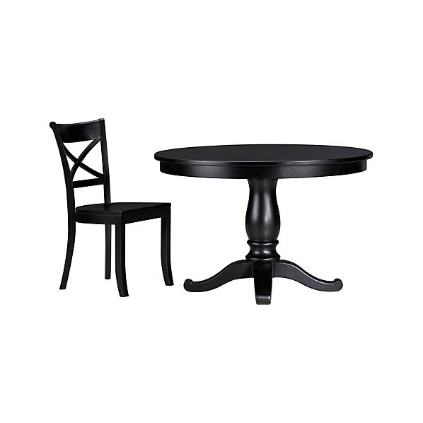 5-Piece Avalon-Vintner Black Dining Set