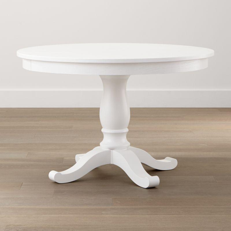"Avalon takes traditional 19th-century cottage styling and refines it with a fresh white painted finish, perfect for cozy kitchens as well as casual dining rooms. <NEWTAG/><ul><li>Designed by Blake Tovin of Tovin Design</li><li>Oak veneer, engineered wood and solid wood base with white painted polyurethane finish</li><li>Levelers</li><li>Seats four; six with 17"" leaf</li><li>Made in Vietnam</li></ul><br />"