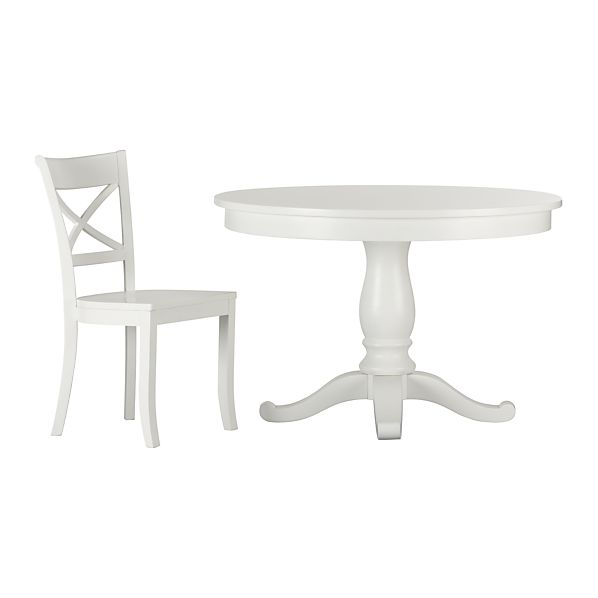 5-Piece Avalon-Vintner White Dining Set