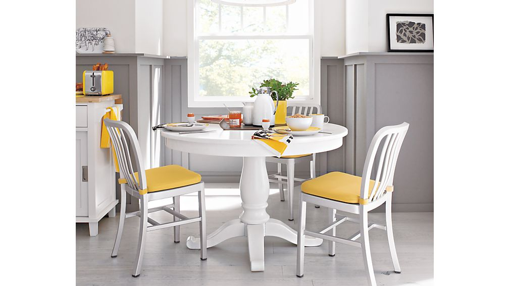 Avalon 45quot White Extension Dining Table in Dining Tables  : avalon 45 white extension dining table from www.crateandbarrel.com size 1008 x 567 jpeg 52kB
