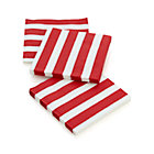 Set of 20 Awning Stripe Paper Beverage Napkins.