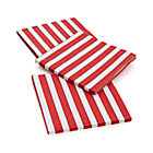 Set of 20 Awning Stripe Paper Dinner Napkins.