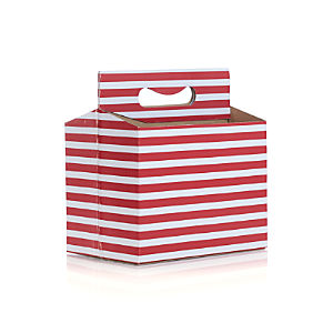 Awning Stripe Paper Beverage Caddy