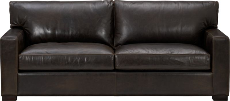 "The clean lines of our best-selling Axis relax—or sleep—with casual sophistication in rich full-grain leather. Its natural markings and vintage nature add rich character. Wide track arms and plump back cushions frame deep seat cushions. Block feet are stained a warm hickory. Sleeper mechanism features an anti-tip safety feature, low-profile support system and tilt-up headrest. Innerspring mattress with has a quilted top pad.<br /><br />After you place your order, we will send a leather swatch via next day air for your final approval. We will contact you to verify both your receipt and approval of the leather swatch before finalizing your order.<br /><br /><NEWTAG/><ul><li>Eco-friendly construction</li><li>Certified sustainable, kiln-dried hardwood frame</li><li>Seat cushions are multilayer soy- or plant-based polyfoam wrapped in fiber-down blend and encased in downproof ticking</li><li>Back cushions are fiber-down encased in downproof ticking</li><li>5.5"" innerspring mattress with quilted top pad</li><li>Axis sleeper sofas open to a depth of 95.75""</li><li>Synthetic webbing suspension</li><li>Upholstered in full grain, aniline-dyed leather with topstitching</li><li>Hickory-stained hardwood legs</li><li>Benchmade</li><li>See additional frame options below</li><li>Made in North Carolina, USA</li></ul>"