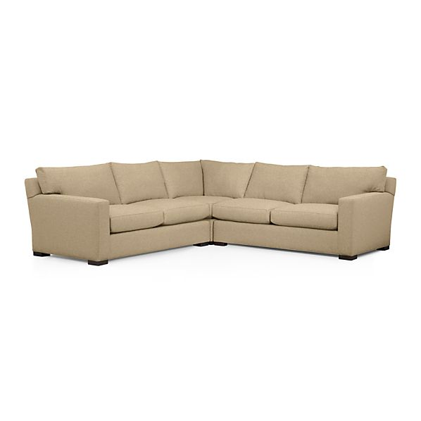 Axis ii 3 piece sectional sofa basil crate and barrel for Large 3 piece sectional sofa