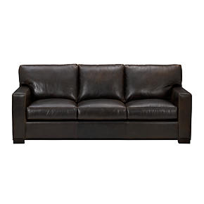 Axis Leather 3-Seat Queen Sleeper Sofa