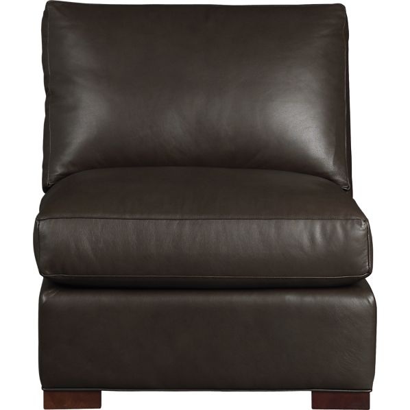 Axis Ii Leather Armless Chair Espresso Crate And Barrel