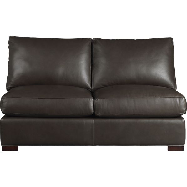 Axis II Leather Armless Sectional Full Sleeper Sofa