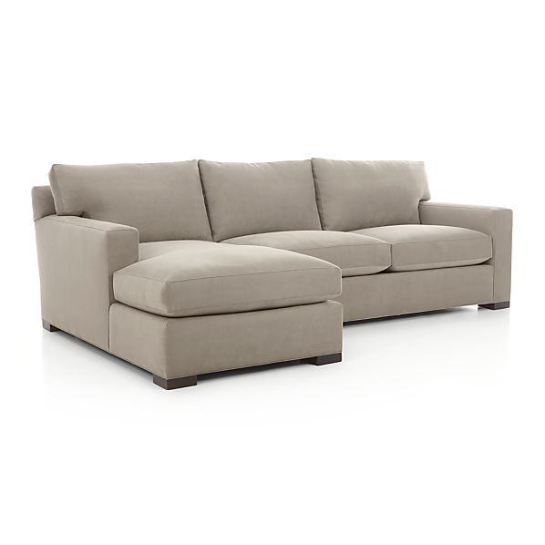 Axis II 2-Piece Sectional Sofa - Nickel