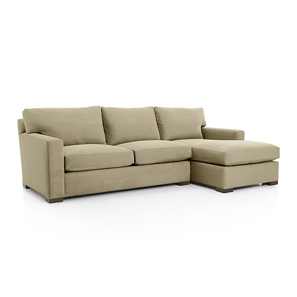 Axis ii 2 piece sectional sofa basil crate and barrel for Crate and barrel lounge 2 piece sectional sofa