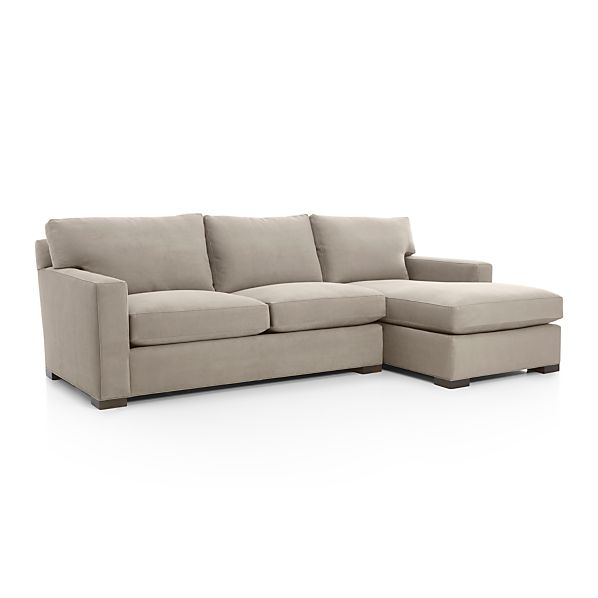 axis ii 2 piece sectional sofa nickel crate and barrel