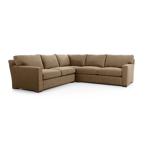 Axis ii 3 piece sectional sofa coffee crate and barrel for 3 piece white sectional sofa
