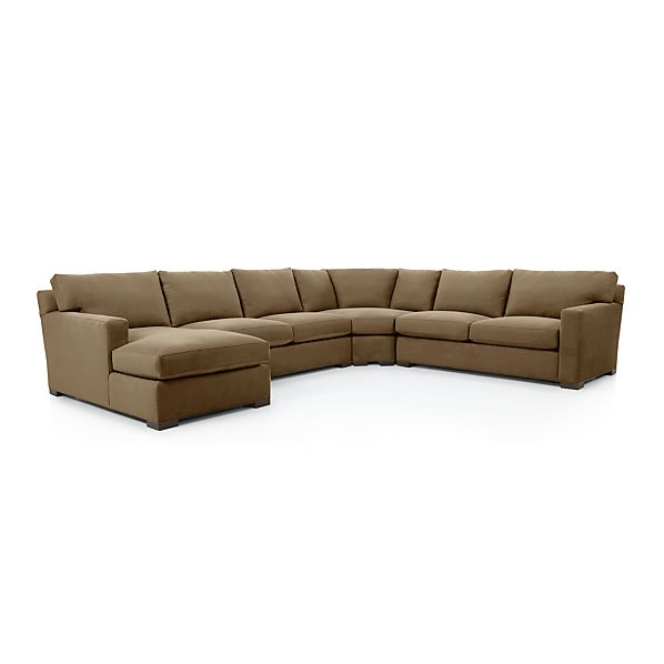 Axis ii 4 piece sectional sofa coffee crate and barrel for Axis ii 2 piece sectional sofa