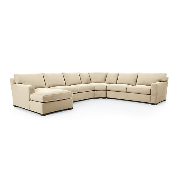 axis ii 4 piece sectional sofa basil crate and barrel