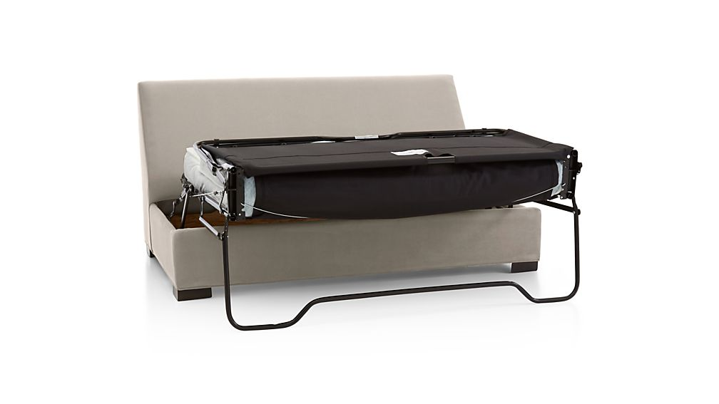 Axis II Armless Full Sleeper Sofa with Air Mattress