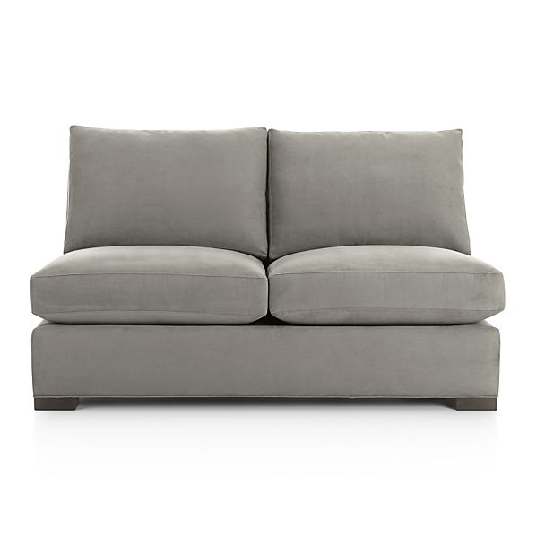 Axis II Armless Full Sleeper Sofa Nickel Crate And Barrel