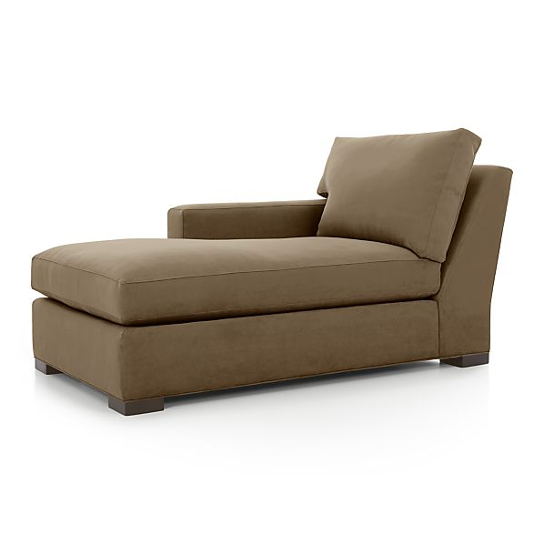 Axis ii left arm chaise lounge coffee crate and barrel for 2 arm chaise lounge