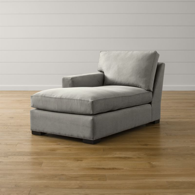 Bring Axis home and watch life revolve around it. Upholstered in a high-performance fabric that's pet, kid, and family friendly, this versatile collection offers exceptional durability for family rooms and casual living rooms. <NEWTAG/><ul><li>Frame is benchmade in the USA with certified sustainable hardwood that's kiln-dried to prevent warping</li><li>Flexolator spring suspension system</li><li>Soy-based polyfoam seat cushion wrapped in fiber-down blend and encased in downproof ticking</li><li>Fiber-down back cushion encased in downproof ticking</li><li>Hardwood legs stained with a hickory brown finish</li><li>Material origin: see swatch</li><li>Made in North Carolina, USA</li></ul>