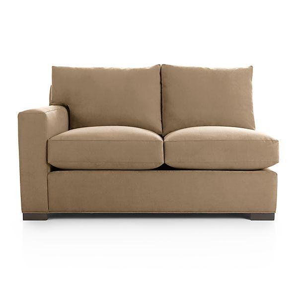 Axis II Left Arm Sectional Air Mattress Full Sleeper Sofa