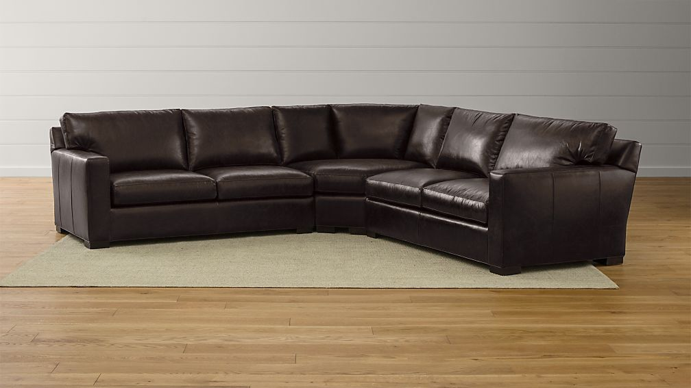Axis II Leather 3 Piece Sectional Sofa