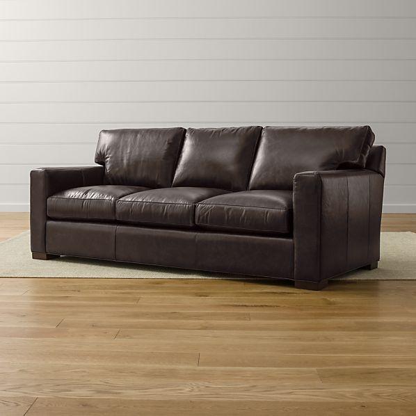 Axis Ii Leather 3 Seat Queen Sleeper Sofa Espresso