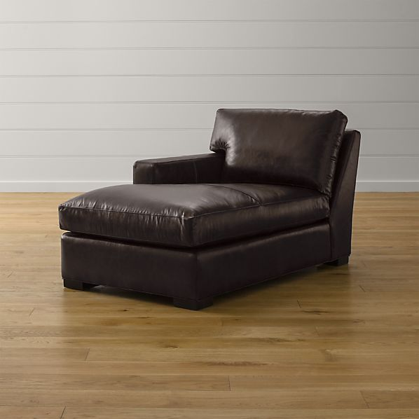 Axis II Leather Left Arm Chaise