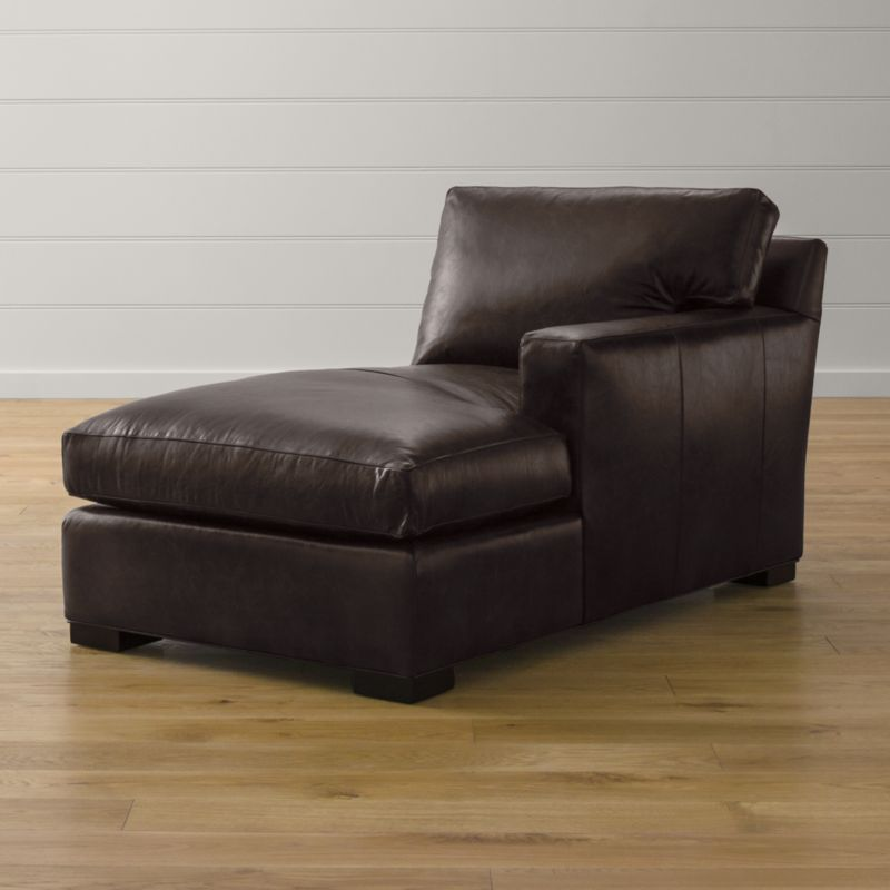 Axis Ii Leather Right Arm Chaise Espresso Crate And Barrel