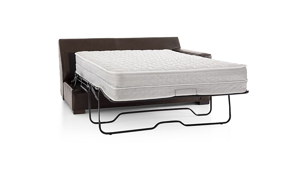 Axis II Leather Right Arm Full Sleeper Sofa with Air Mattress