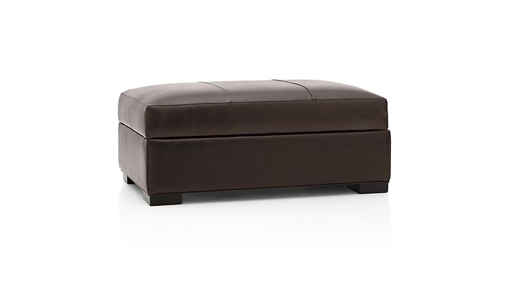 Axis II Leather Ottoman and a Half