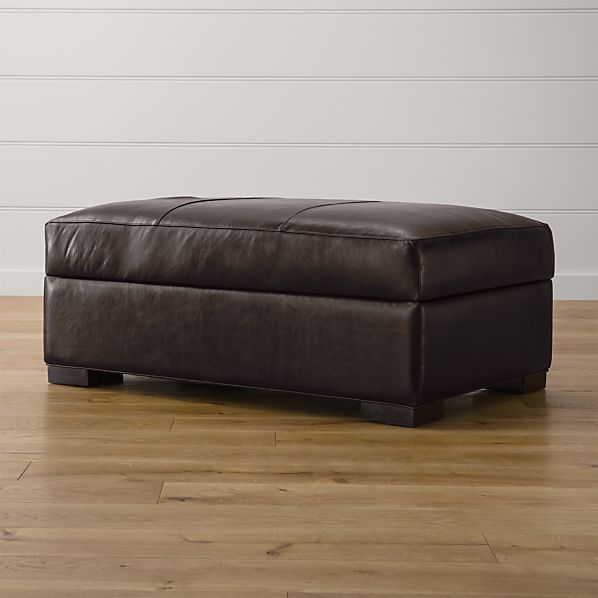 Axis II Leather Storage Ottoman