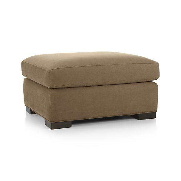 Axis ii ottoman nickel crate and barrel for Crate and barrel pouf