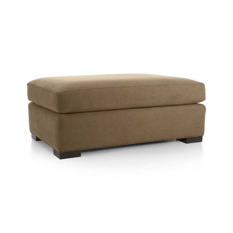 """Our most popular seating solution offers versatile seating options that sit luxuriously deep and roomy. It's a tremendous value for the quality of construction: benchmade frame is kiln-dried hardwood, and soft down-blend seat cushion has an indulgent wrap in downproof ticking to give it that extra """"ahh"""" factor when you sit down.<br /><br />After you place your order, we will send a fabric swatch via next day air for your final approval. We will contact you to verify both your receipt and approval of the fabric swatch before finalizing your order.<br /><br /><NEWTAG/><ul><li>Eco-friendly construction</li><li>Certified sustainable kiln-dried hardwood frame</li><li>Cushion is multilayer soy- or plant-based polyfoam wrapped in fiber-down blend and encased in downproof ticking</li><li>Flexolator spring suspension</li><li>Square wood legs with a hickory finish</li><li>Benchmade</li><li>Made in North Carolina, USA</li></ul>"""