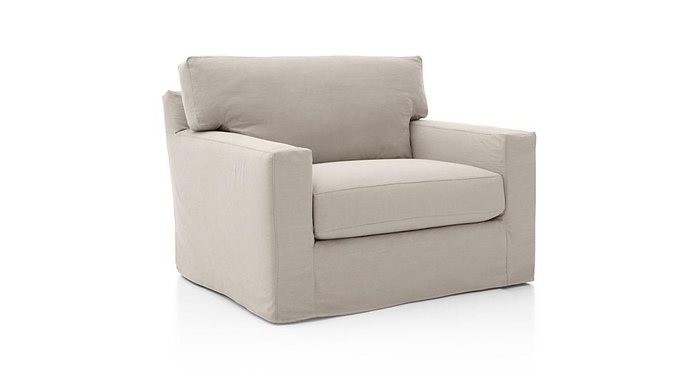 Axis II Slipcovered Swivel Chair