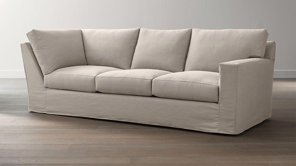Axis II Slipcovered Right Arm Corner Sofa