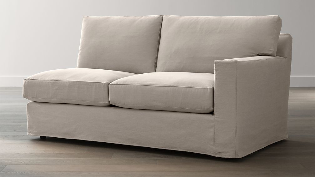 Axis II Slipcovered Right Arm Full Sleeper Sofa