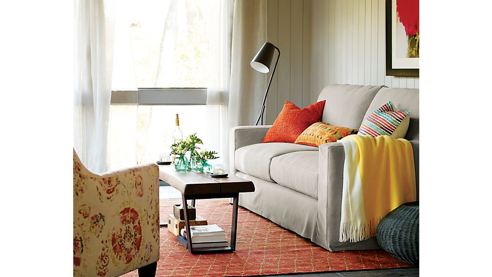 Axis II Slipcovered Right Arm Apartment Sofa