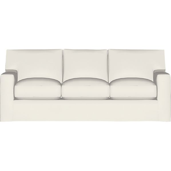 Axis II Slipcovered Queen 3-Seat Sleeper Sofa with Air Mattress
