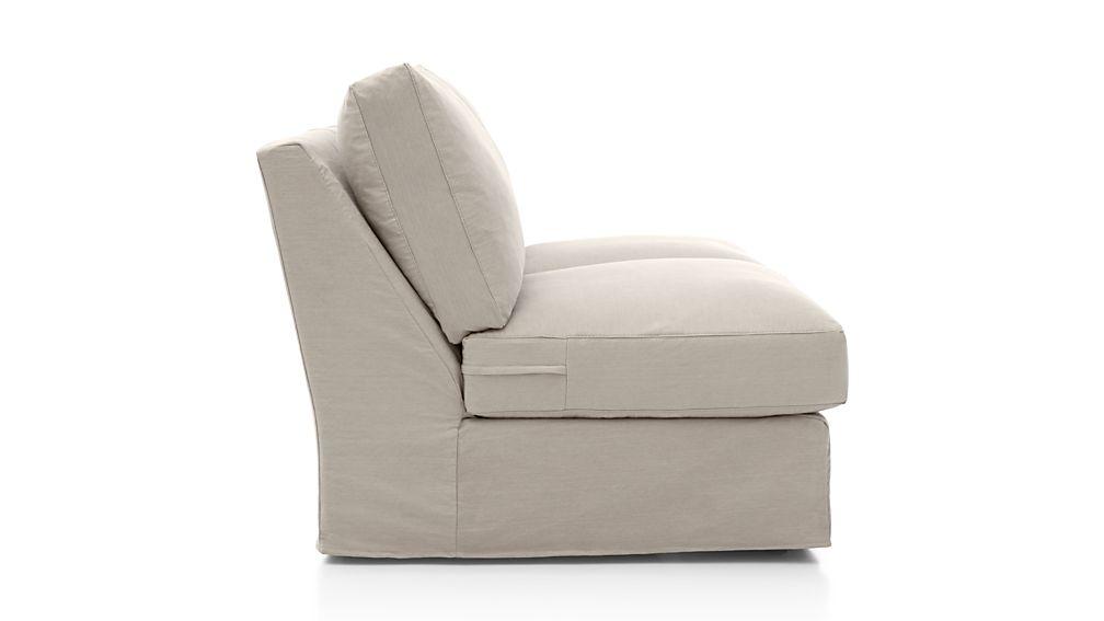 Axis II Slipcovered Armless Full Sleeper Sofa with Air Mattress