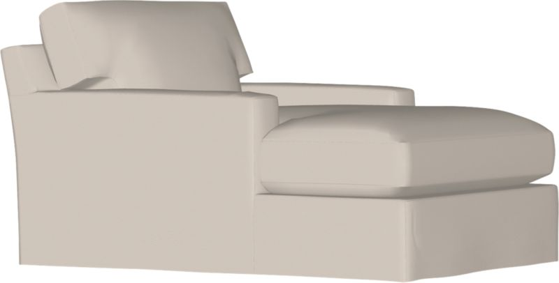 """Our most popular seating solution updates in a slightly slimmer profile with more room to stretch out and more options to dress with your own mix of throw pillows. Its simple lines anchor any room—whether classic, modern or a more eclectic mix—and it's a tremendous value for the quality of construction. Snug-fitting slipcovers hug Axis's plush contours, tailor-made of 100% cotton with a sleek floor-length skirt and crisp topstitching. It's a tremendous value for the quality of construction: benchmade frame is kiln-dried hardwood, and soft down-blend seat cushions have an indulgent wrap in downproof ticking to give it that extra """"ahh"""" factor when you sit down. Axis sectional also available.<br /><br />After you place your order, we will send a fabric swatch via next day air for your final approval. We will contact you to verify both your receipt and approval of the fabric swatch before finalizing your order.<br /><br /><NEWTAG/><ul><li>Eco-friendly construction</li><li>Certified s"""