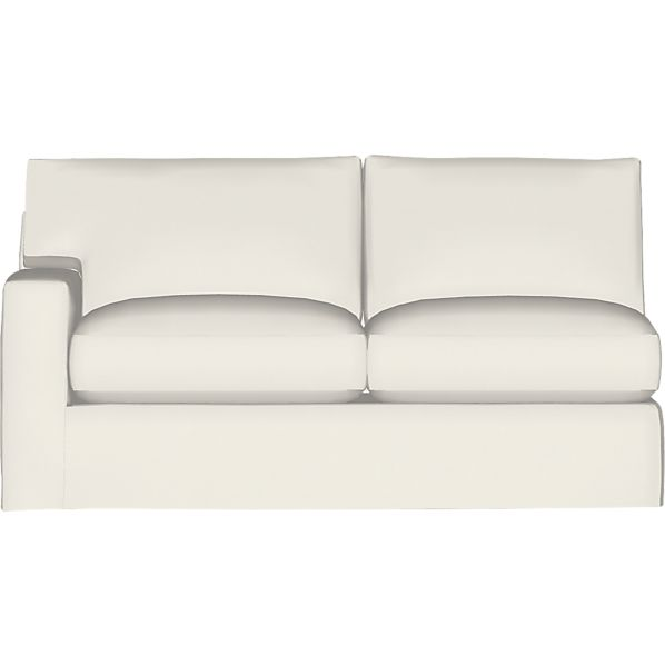 Axis II Slipcovered Left Arm Sectional Full Sleeper Sofa with Air Mattress